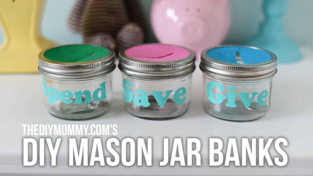 Mason jar with money