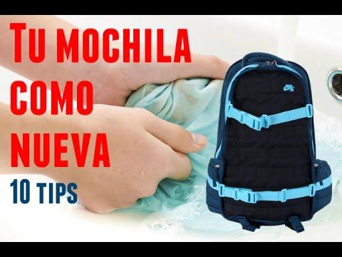 2430156b3 Como nueva! 10 tips para lavar tu mochila - YouTube