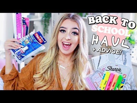 BACK TO SCHOOL HAUL 2018, ADVICE & GIVEAWAY!!