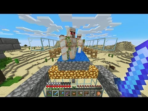 How to make the best iron golem farm in minecraft (unlimited iron)