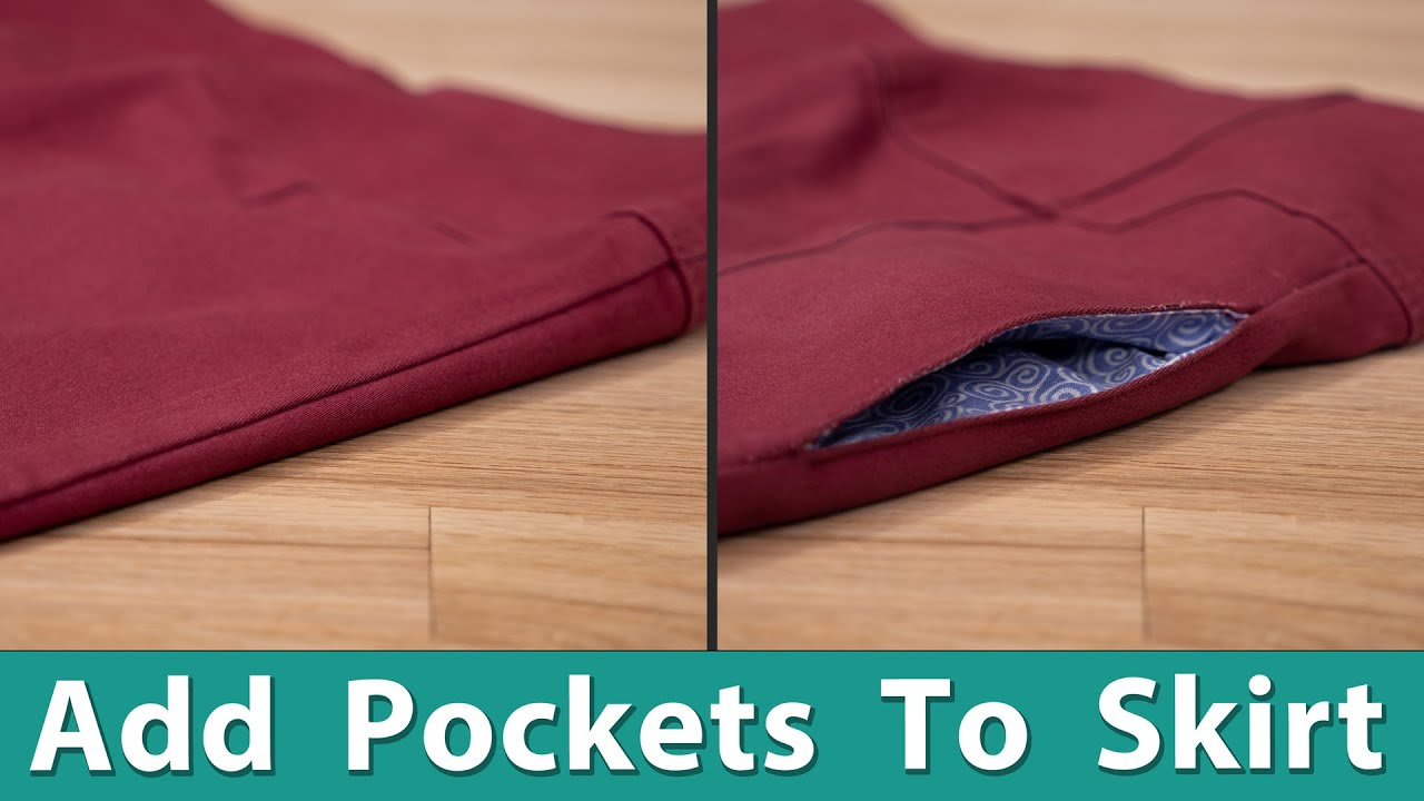 How to add Pockets to a Skirt or Dress