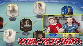 4 Prime ICONS Moments + 192 Fut Draft geschafft mit meinem kleinen Bruder? - Fifa 19 Ultimate Team