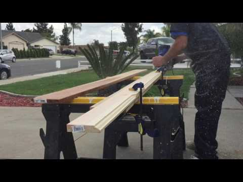 DIY baseboard trim with roman ogee router bit