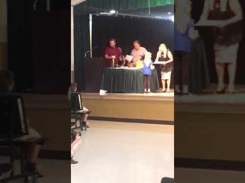 Award ceremony graduation at Deltona elementary school mr. Branscomb class 2019