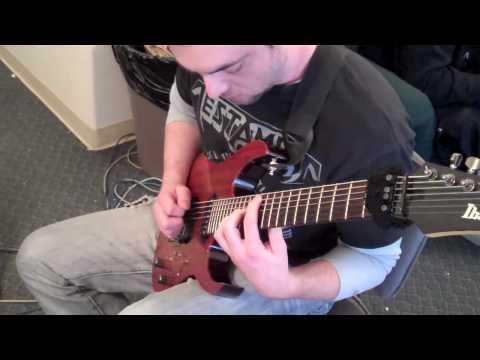 ALLEGAEON Studio Video Ryan Glisan Warming up