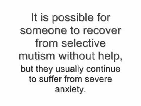Adult mutism selective