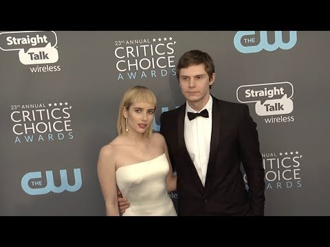 Emma Roberts and Evan Peters at The 23rd Annual Critics Choice Awards