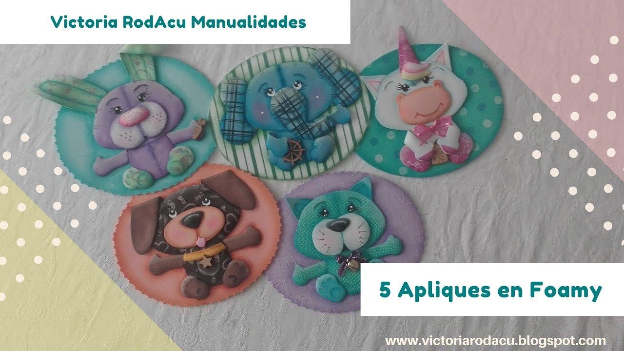 Diy 5 apliques en foamy reto manualidades en familia for Manualidades en familia