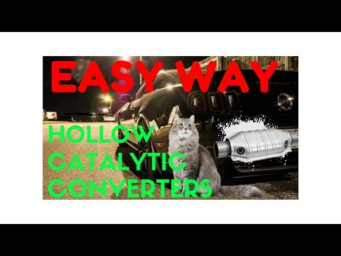 How to Hollow Out Catalytic Converters