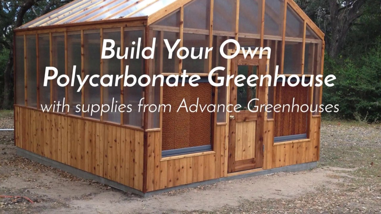 Build Your Own Polycarbonate Greenhouse