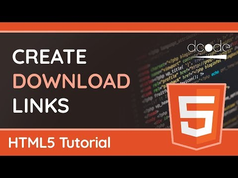 How To Use The 'download' Attribute - HTML5 Tutorial