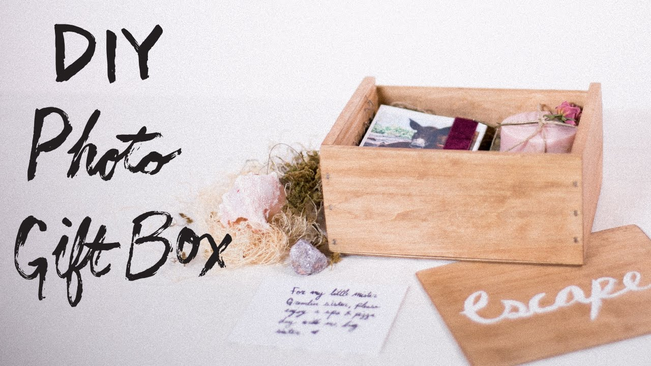 Diy Personalized Photo Gift Box Youtube