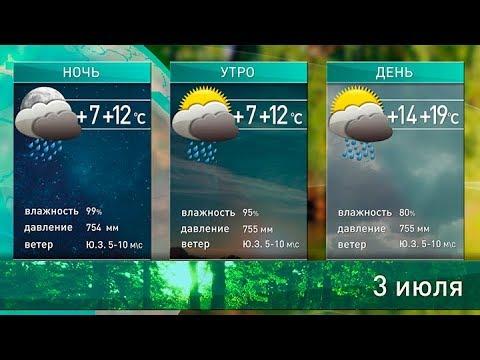 Прогноз погоды на 3 июля