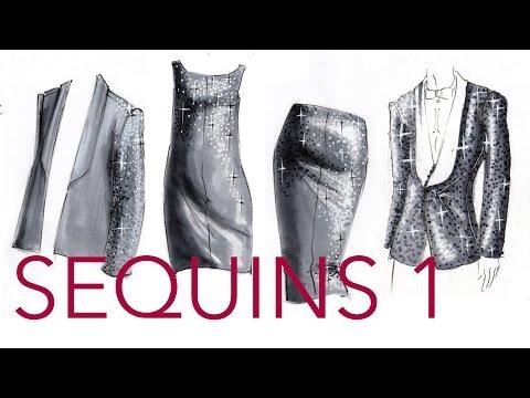Fashion Illustration Tutorial: Sequins (Part 1/2)