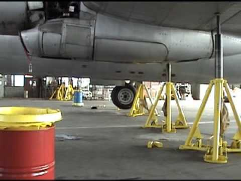 Boeing C-97 Stratocruiser Main landing gear test.