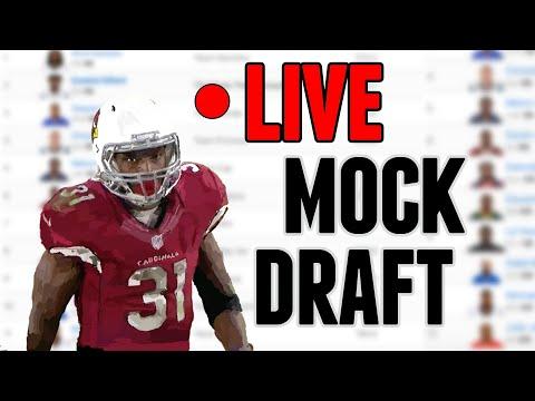LIVE Fantasy Football Mock Draft... Smitty breaking down each pick!