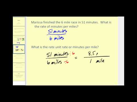 Writing Rates and Calculating Unit Rates | Prealgebra