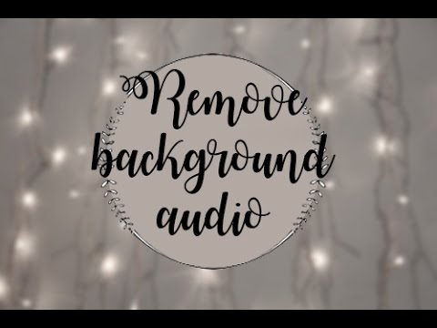 How to remove background music from TV shows
