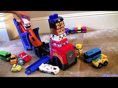 Mega Bloks First Builders Truck Racing Rig DisneyPixarCars Sally Tayo Paw Patrol Chase Marshall Skye