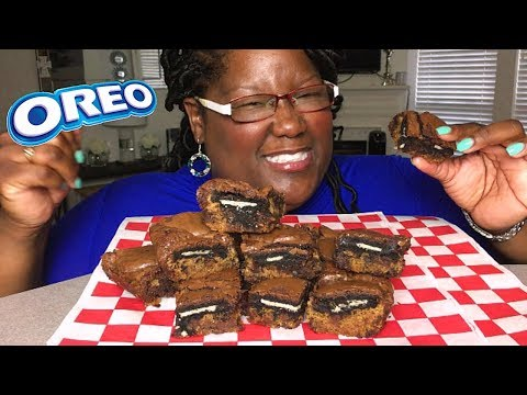 OREO BROOKIE COOKING/RECIPE AND EATING 먹방