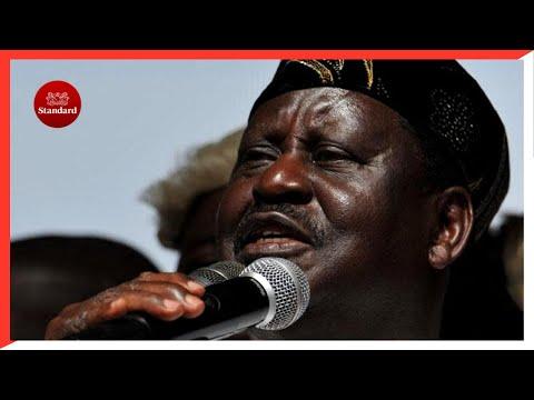 Raila Odinga receives blessings from Mukami Kimathi the widow of freedom fighter Dedan Kimathi