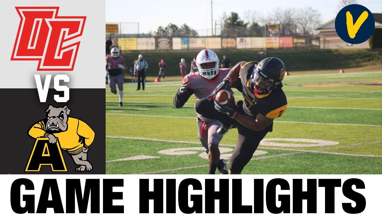 Olivet vs Adrian Highlights | D3 2021 Spring College Football Highlights