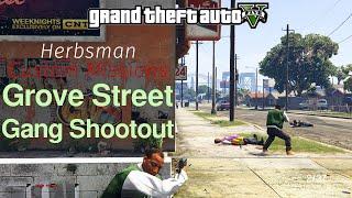 GTA V - Grove Street Gang Shootout (Herbsman Custom Missions)