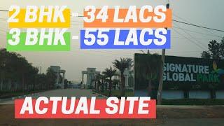 2/3 BHK (34 Lacs) Signature Global Park || Actual Site || Ultra Luxury Floors in Gurugram