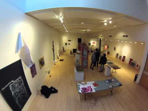 William S. Burroughs: Creative Observer Installation Time Lapse