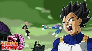 Vegeta Reacts To Goku and Vegeta VS Black and Zamasu Stick Fight