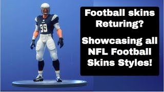 Football Skins Returning? | Showcasing all Football Styles | Fortnite Battle Royale