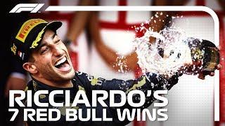 Daniel Ricciardo's Seven Red Bull Victories
