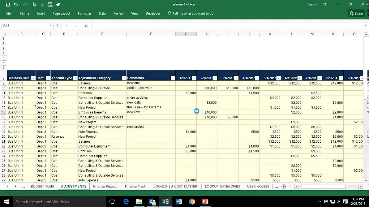fp a budget planning fp a budget planning