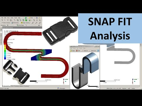 ANSYS Workbench Snap Fit Tutorial Video | Non Linear Contact