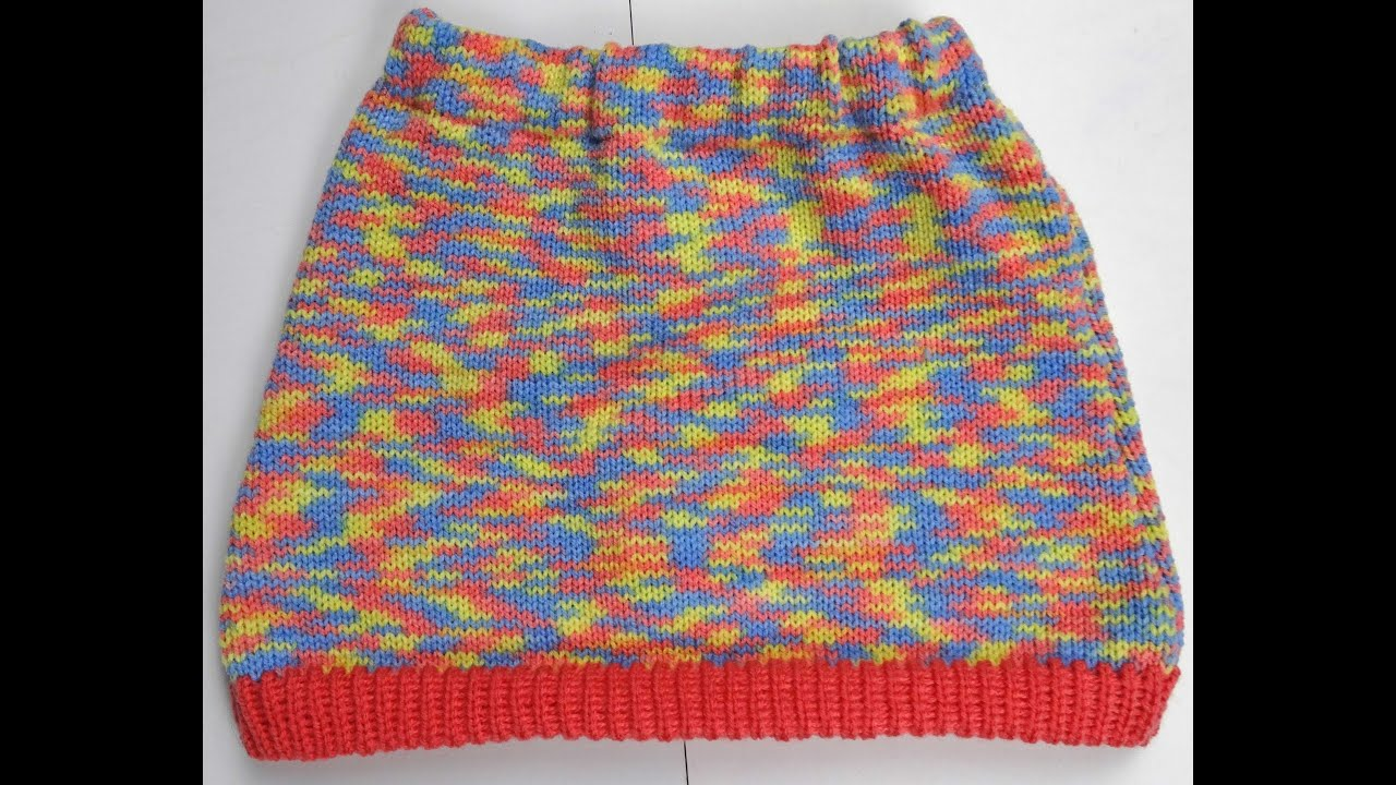 KNIT AN A- LINE SKIRT ON KNITTING MACHINE LK150 K360 - YouTube