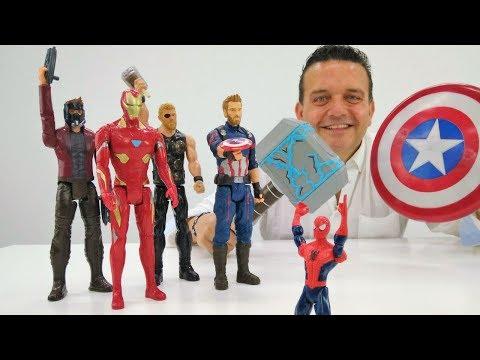 Superhéroes en español. Vídeo de juguetes para niños.