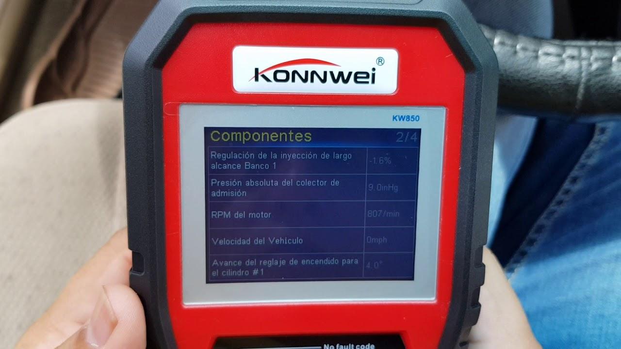 Escáner Vehicular Konnwei Kw850 Obd2 El Mejor Calidad Precio Del Mercado Youtube