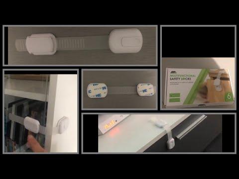 tiroirs Lot de 6 verrous de s/écurit/é pour b/éb/é mini verrous de s/écurit/é pour enfants pour armoires de cuisine fours r/éfrig/érateurs