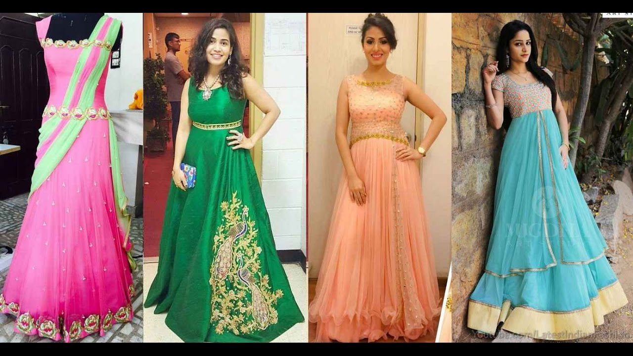 450af66731 Party Wear Long Gown Dress Designs - YouTube