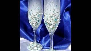 Сделать свадебные бокалы своими руками