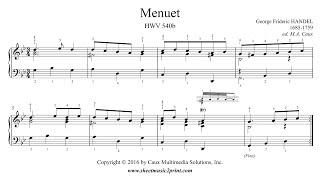 Handel : Menuet in G minor, HWV 540 b