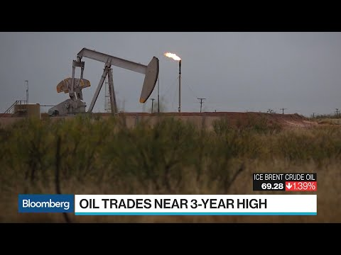 Oil Trades Near Three-Year High