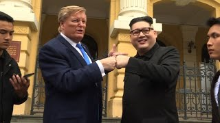 Kim, Trump lookalikes meet in Vietnam ahead of Hanoi summit