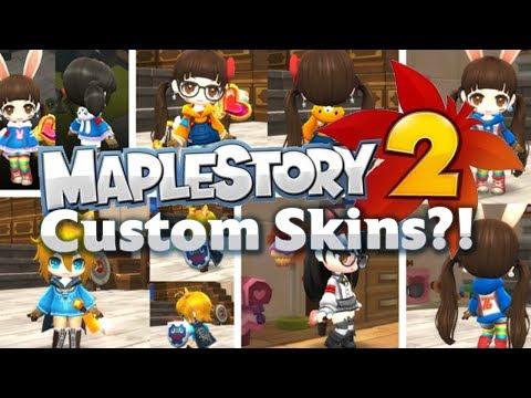 Maplestory 2 - Custom Skins?! - YouTube