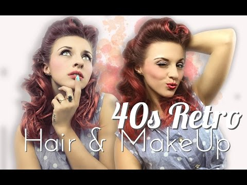 40s Retro PinUp Look/Victory Roll // Hair & Make Up Tutorial //Get ready with me!