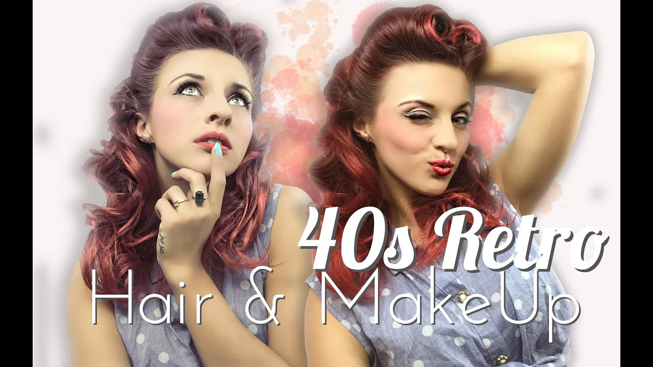40s style hair and makeup 40s retro pinup look victory roll hair amp make up 5464 | maxresdefault