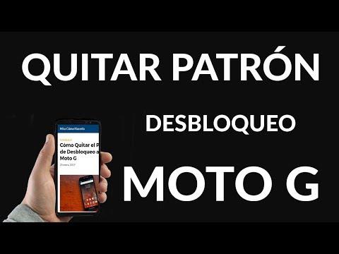 Cómo Quitar el Patrón de Desbloqueo a un Moto G