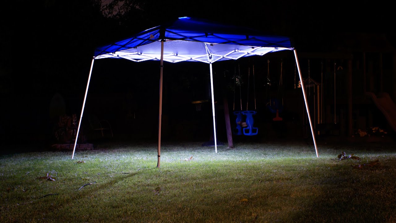 How To Install Lights On Canopy - YouTube