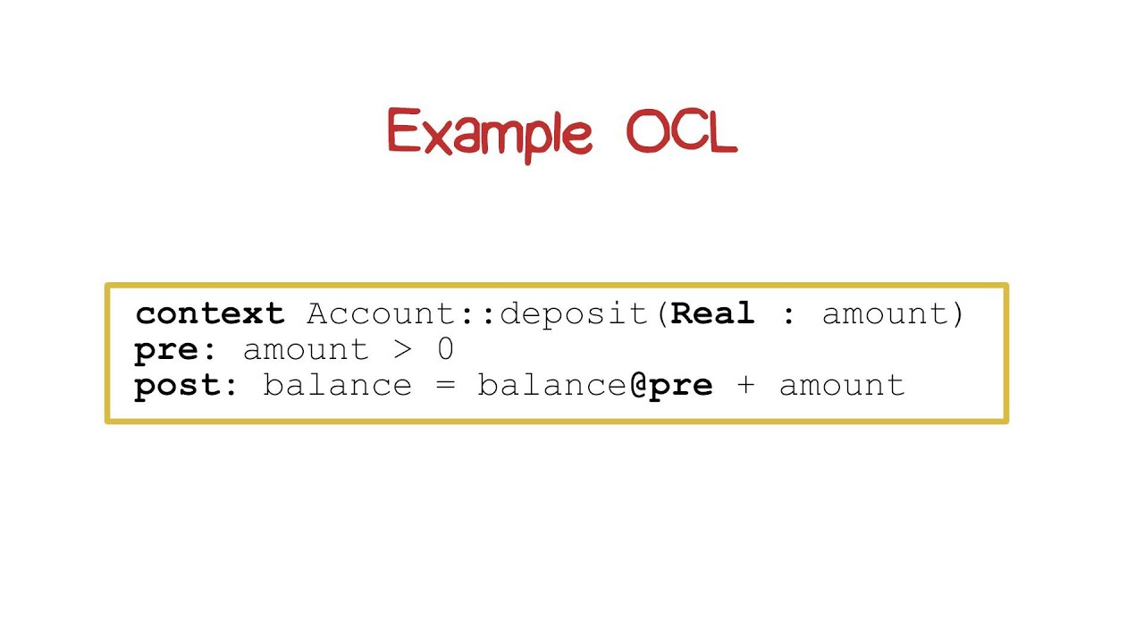 Example OCL - YouTube