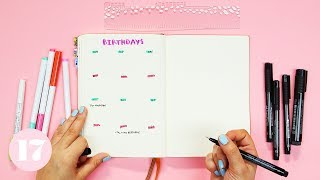 One Minute Bullet Journal Layouts | Plan With Me